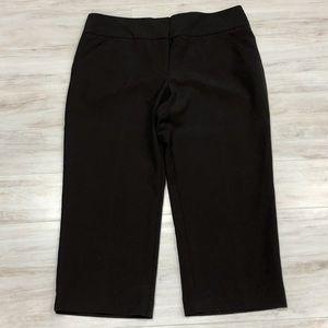 Nicole Miller chocolate brown capris pants